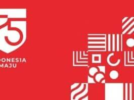 Logo HUT RI ke-75 Indonesia Maju