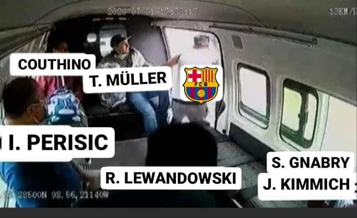 7 Meme Kocak Kekalahan Barcelona atas Bayern Munchen