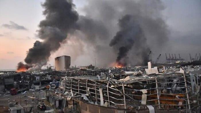 Ledakan Dahsyat Terjadi di Lebanon, Netizen Gaungkan #PrayForLebanon