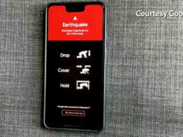 Smartphone Android sensor gempa Google