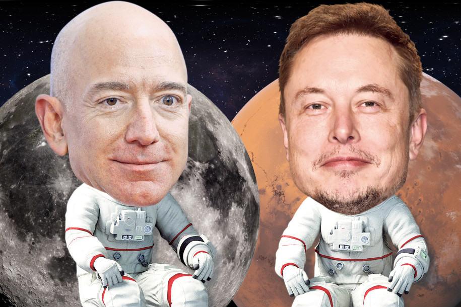 Bezos dan Musk Menjajah Antariksa