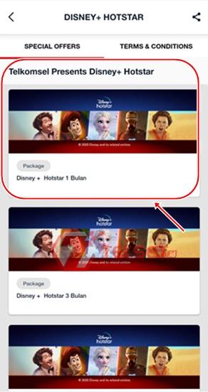 Daftar Akun dan Langganan Disney+ Hotstar