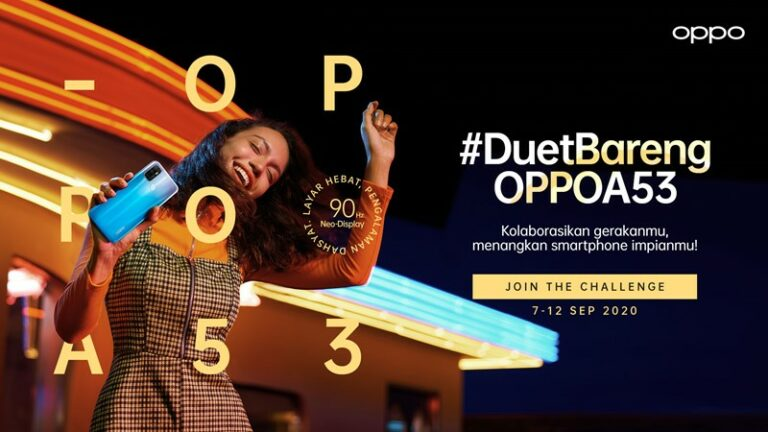 Cuma Duet TikTok, Berkesempatan Dapat Oppo A53 Gratis