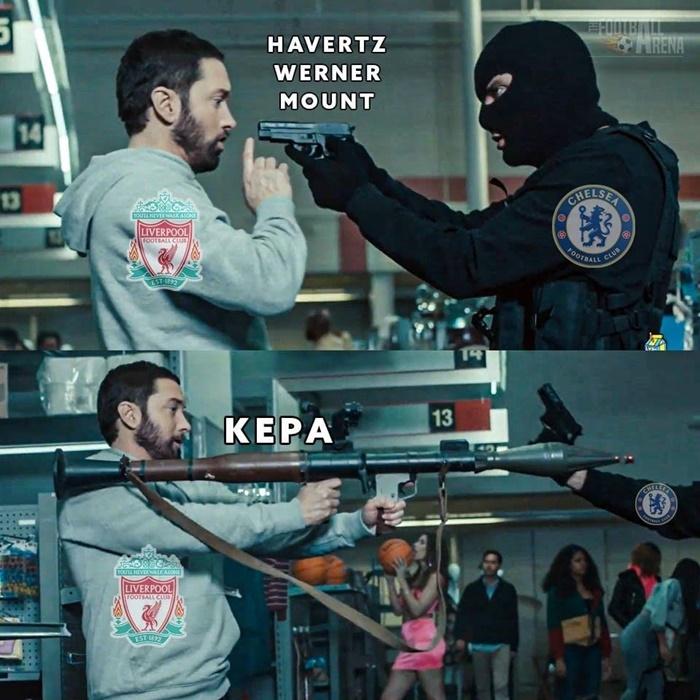 Meme Kepa Chelsea Liverpool