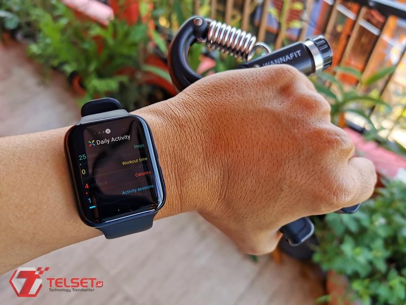 Olahraga rutin di rumah Oppo Watch