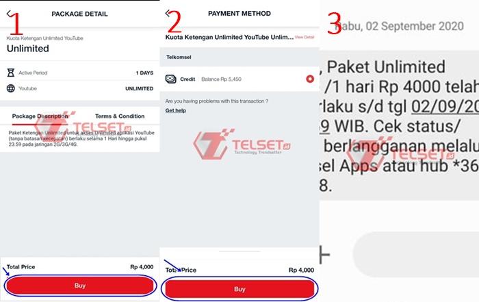 Paket Kuota Ketengan Unlimited Telkomsel
