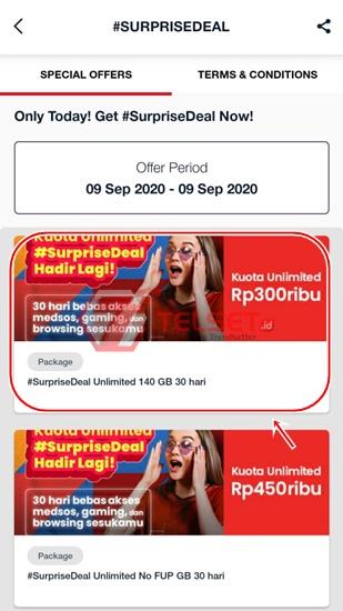 Paket #SurpriseDeal Telkomsel
