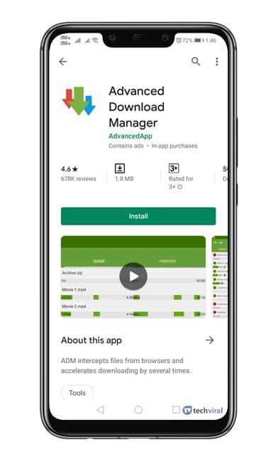 Aplikasi IDM ADM Download Android