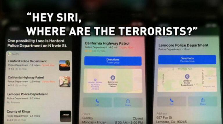 "Upss!! Siri Sebut Kantor Polisi ""Markas Teroris"""