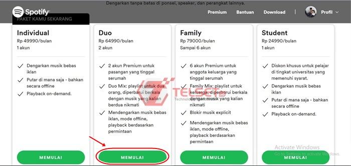 Cara Bayar Spotify Premium DANA