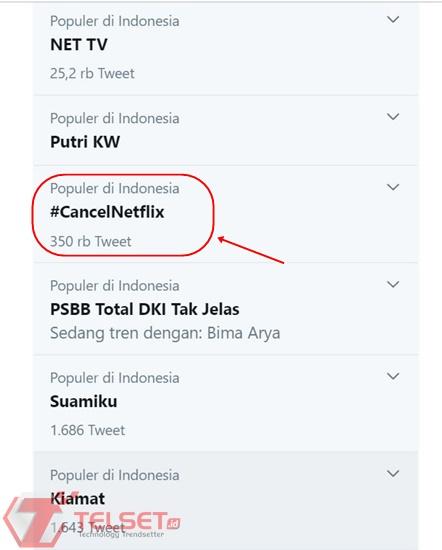 Boikot Netflix #CancelNetflix