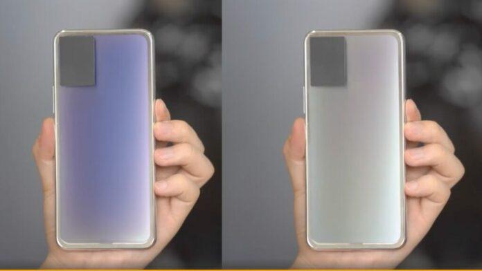 Smartphone Vivo berubah warna