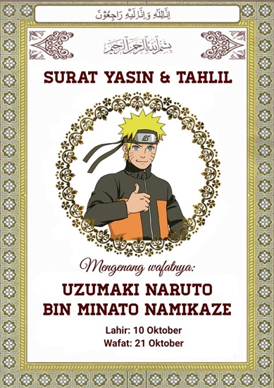 Meme Naruto Meninggal Dunia