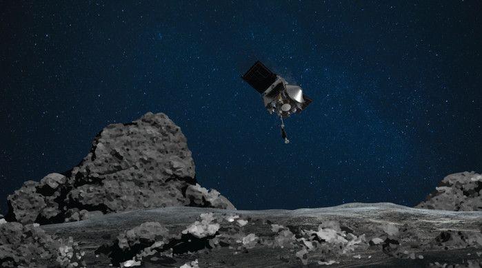 pesawat mendarat di asteroid