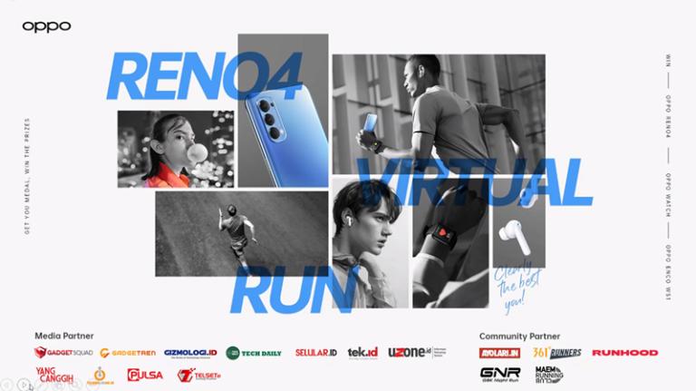 Pendaftaran Oppo Reno4 Virtual Run Dibuka, Yuk Ikutan!
