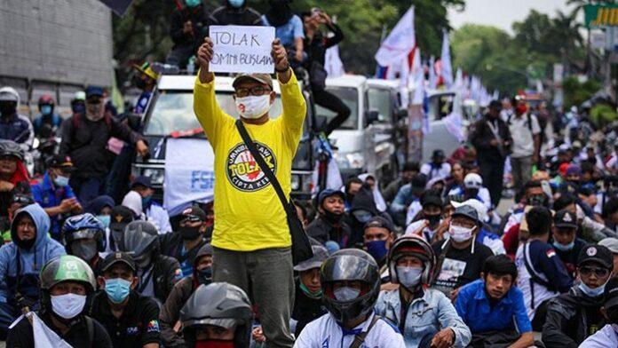 Situasi Demo Omnibus Law