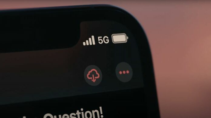 Status Bar 5G iPhone 12