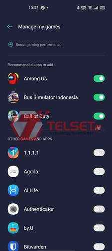 fungsi game space oppo