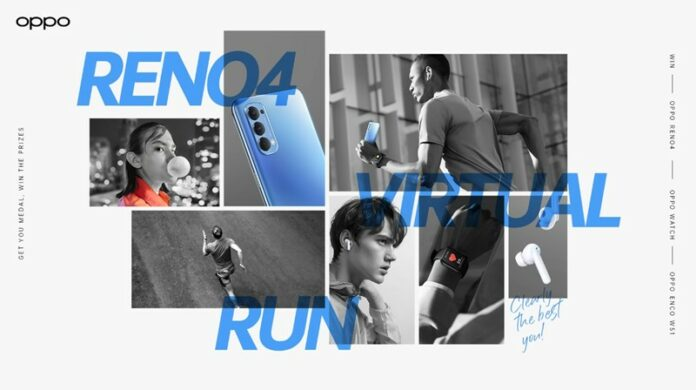 pemenang Oppo reno4 virtual run