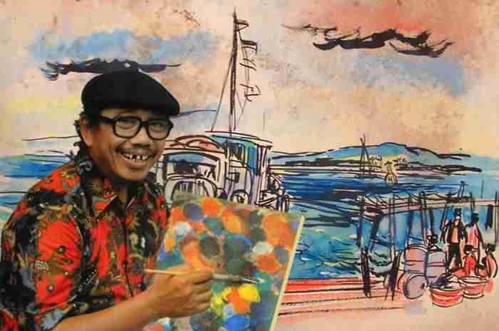 Google Doodle Rayakan Ultah Seniman Pak Tino Sidin