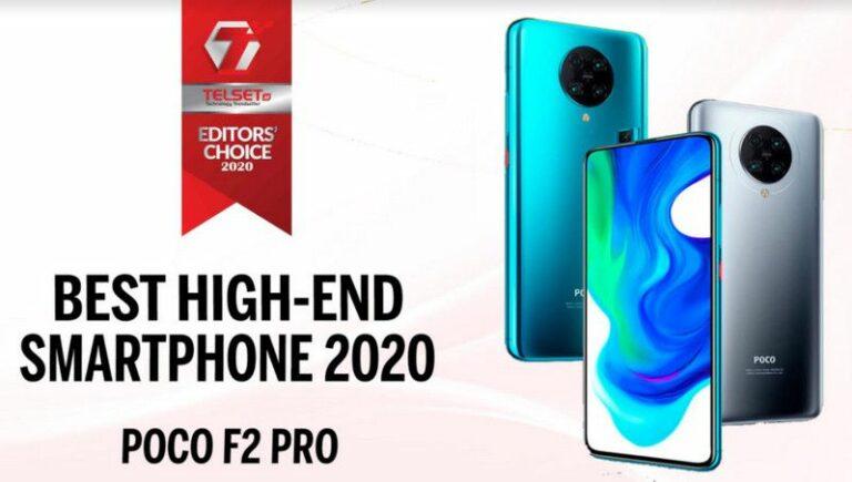Telset Editor's Choice 2020: Best High-End Smartphone