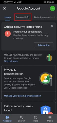 Cara Ganti Password Gmail HP laptop