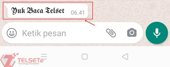 Cara ganti font WhatsApp