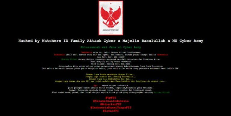 10 Website Pemda Diretas, Hacker Tulis Pesan Bubarkan FPI