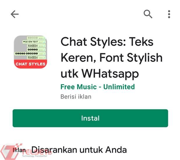 Cara membuat tulisan berwarna WhatsApp
