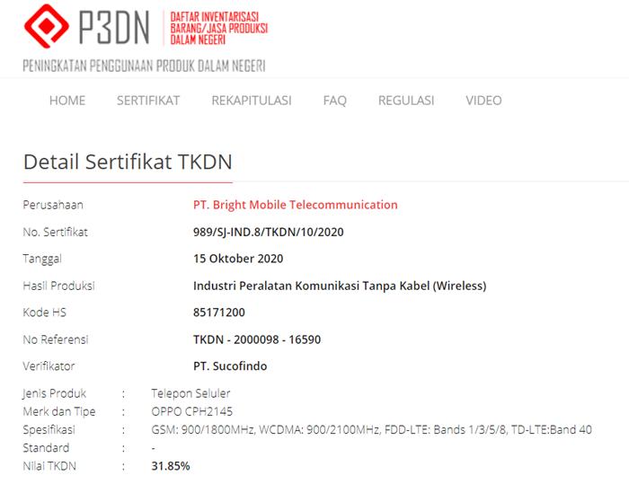 TKDN Oppo Reno5 Pro