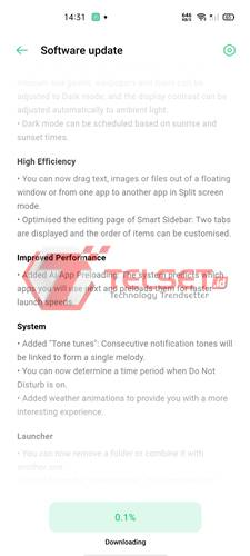 Cara Update ColorOS 11 Oppo Reno4 F