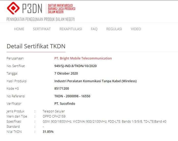 Oppo Reno5 TKDN Indonesia