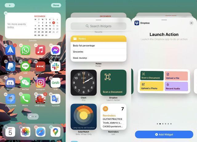 Cara Widget iOS 14