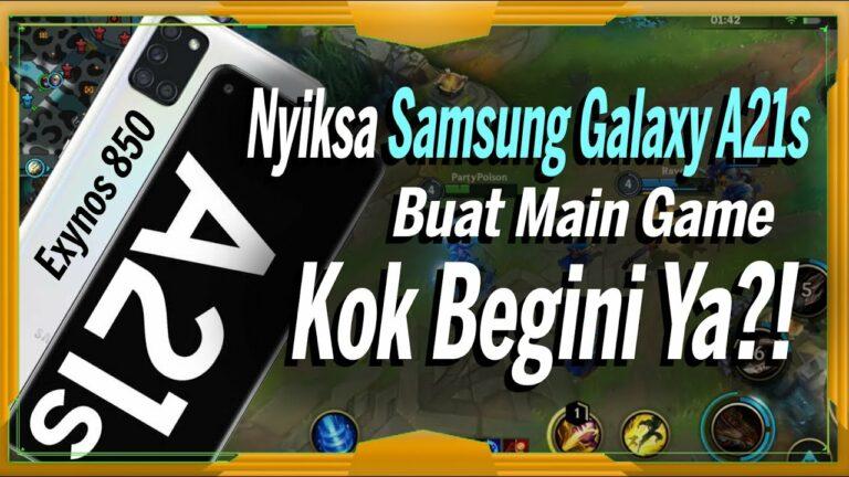 Samsung Galaxy A21S Gaming Test League of Legends & PUBG