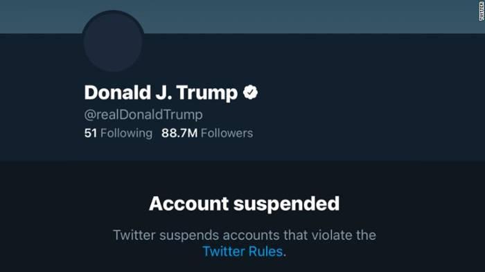 twitter blokir akun donald trump