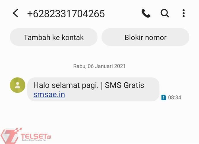 Aplikasi SMS Gratis (Foto : Telset)