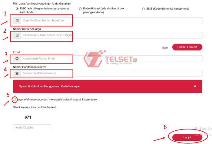 Cara Registrasi Kartu Smartfren Online