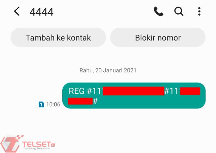 cara registrasi kartu telkomsel SMS