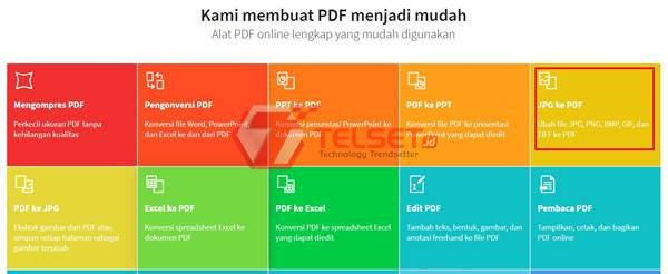 Cara Mengubah JPG ke PDF Online PC Windows 10