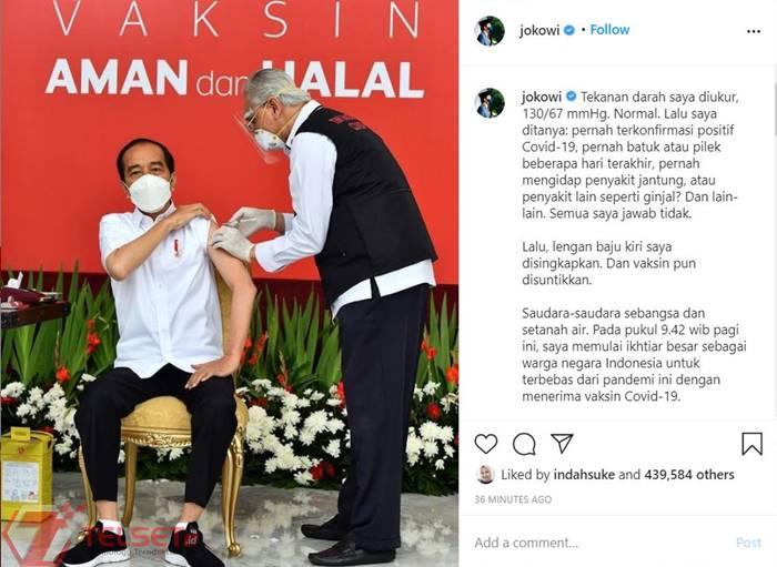 Presiden Jokowi Divaksin Covid-19