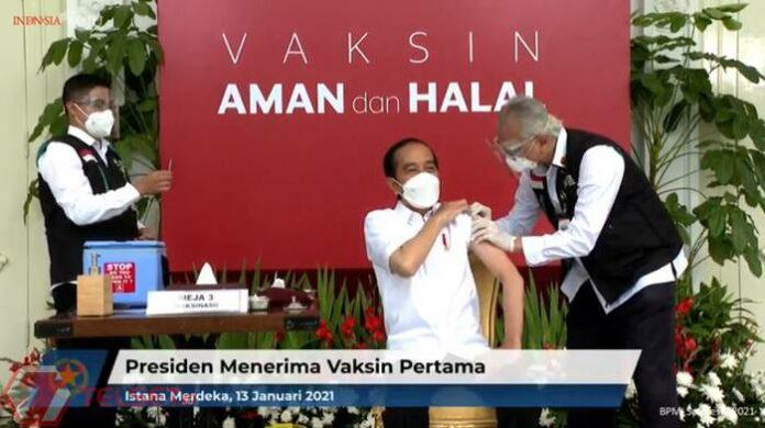 Jokowi Divaksin Covid-19