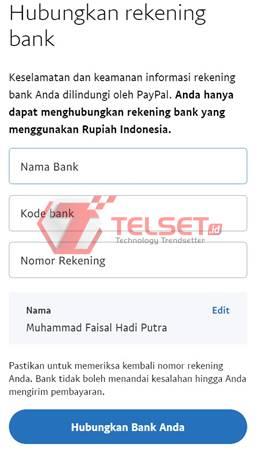 cara daftar membuat rekening PayPal bank BCA BRI