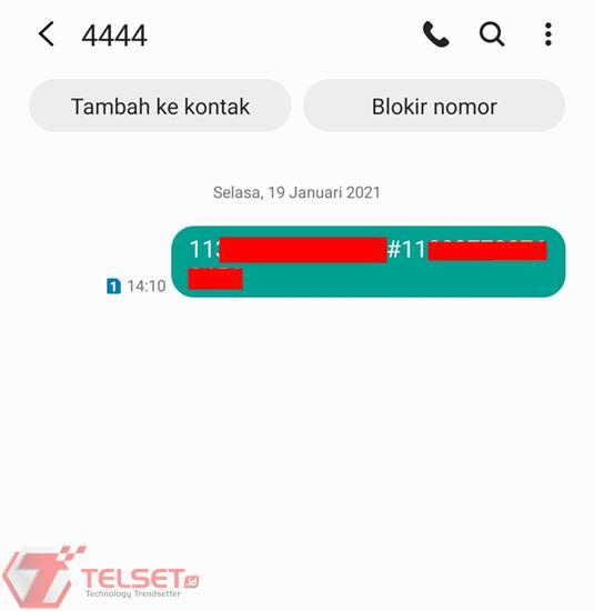 registrasi Indosat via SMS