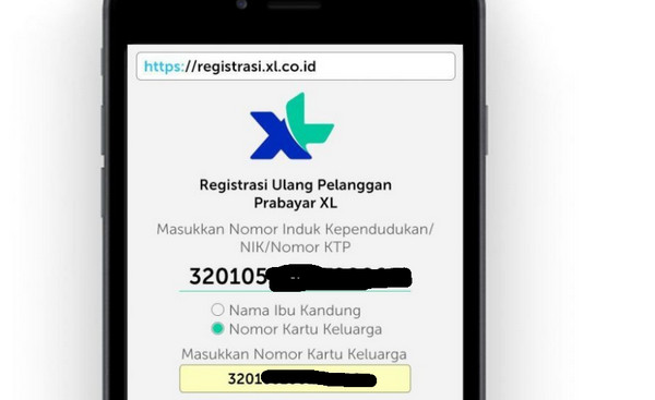 registrasi kartu xl online