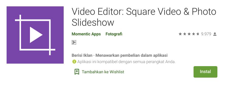 Aplikasi Video Bokeh HP Android Square