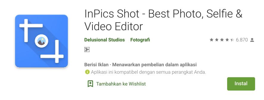Aplikasi Video Bokeh HP Android InPics Shot