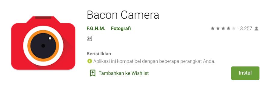 Aplikasi Video Bokeh HP Android Bacon Camera