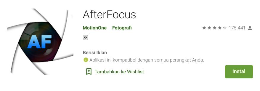 Aplikasi Video Bokeh HP Android AfterFocus