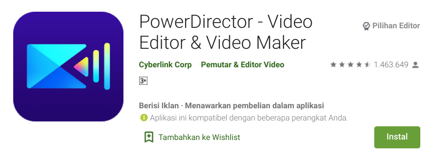 Aplikasi Video Bokeh HP Android Power Director