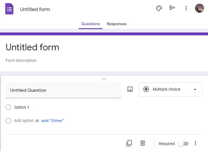 questions Google Form